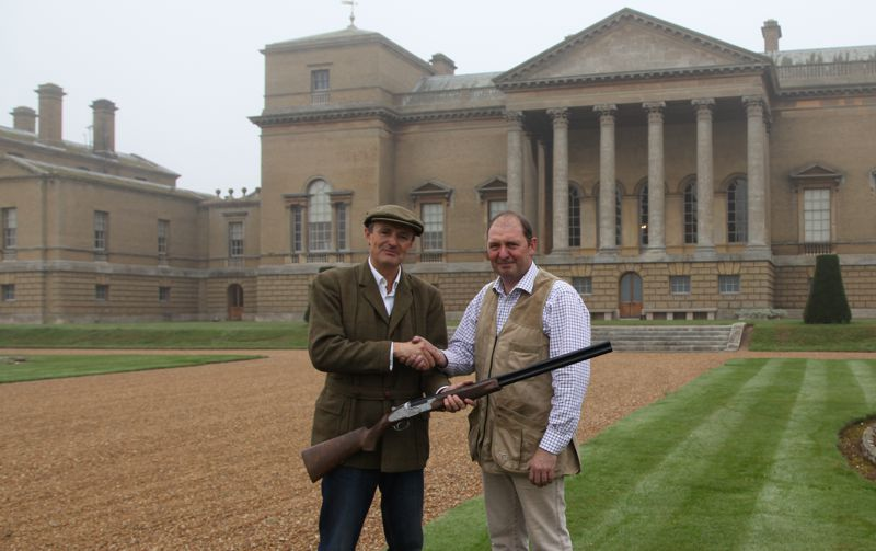 Earl of Leicester(of Holkham Hall) receives his guns
